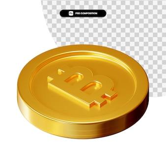 Munt 3d-visuele weergave geïsoleerd
