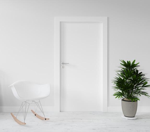 Muro con porta vuota mockup