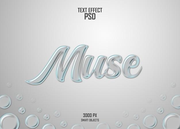 Muse-woord met glaseffect