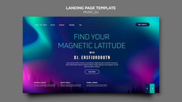 Music dj design della landing page