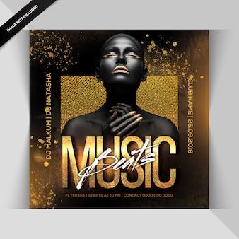 Música beats pary flyer