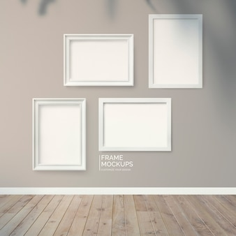 Muur met frames