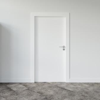 Muur met lege deur mockup