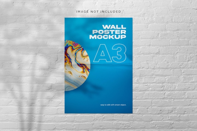 Muur poster mockup