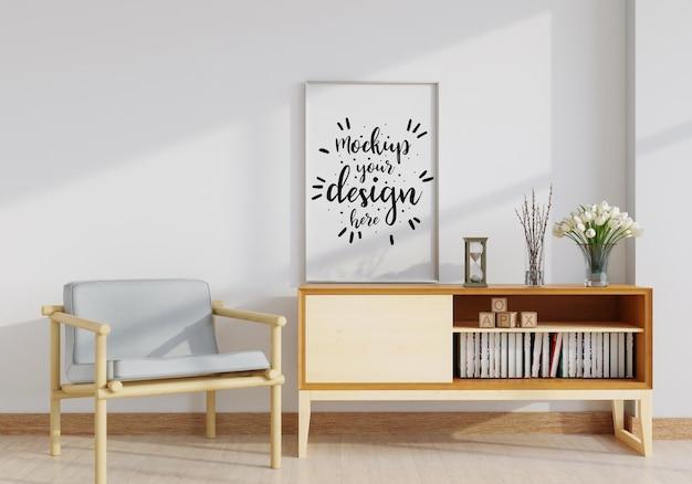 Muurkunstmodel, canvas of fotolijst in de woonkamer