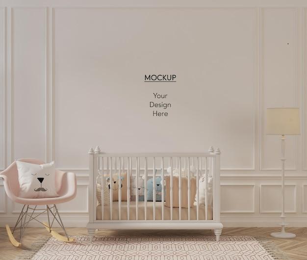 Muurmodel in schattig interieur van de kinderkamer
