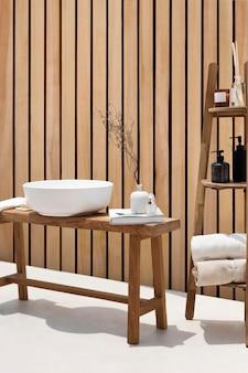 Muurmodel psd in een luxe spa