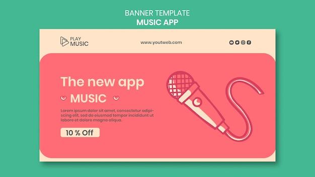 Muziek app-sjabloon voor spandoek