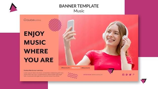 Muziek banner sjabloon concept