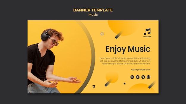 Muziek banner sjabloon thema