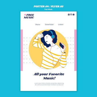 Muziek concept folder sjabloon