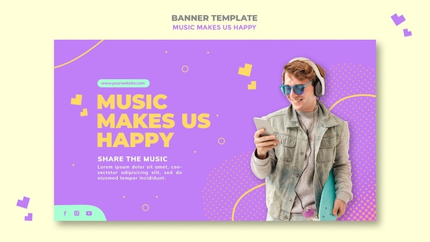 Muziek concept sjabloon voor spandoek