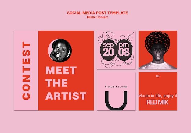 Muziek concert social media bericht