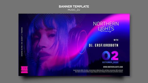 Muziek dj banner thema