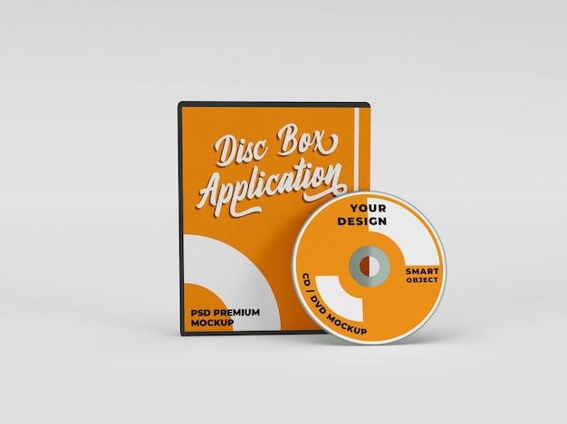 Muziek- en film-cd dvd-hoespakket realistische mockup
