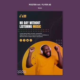 Muziek evenement poster stijl