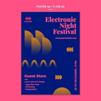 Muziek expo sjabloon poster