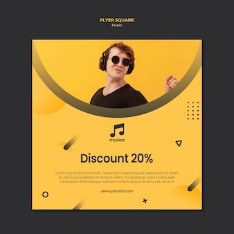 Muziek flyer sjabloon concept