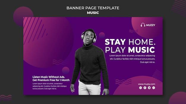 Muziek luisteren horizontale banner