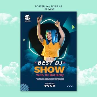 Muziek partij concept poster flyer sjabloon