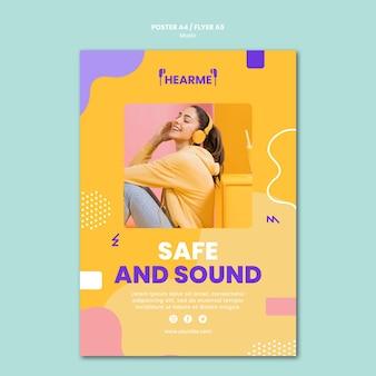 Muziek platform sjabloon poster
