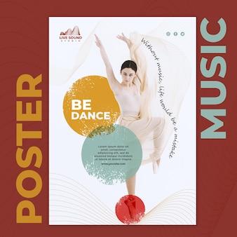 Muziek poster sjabloon met afbeelding