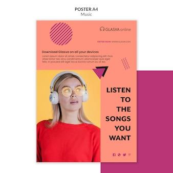 Muziek poster sjabloon thema