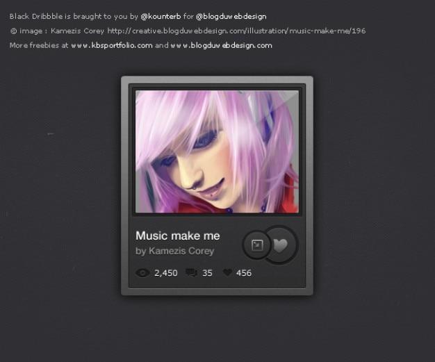Muziek verlanglijstjes interface met mooi meisje