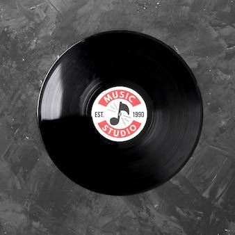 Muziek vinyl mock-up