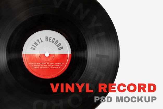 Muziek vinyl record mockup psd voor artiesten