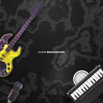 Muziekachtergrond met instrumenten