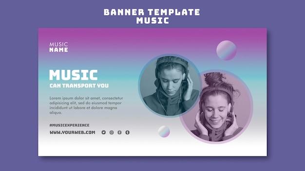 Muziekervaring banner sjabloonontwerp