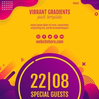 Muziekfestival geel achtergrondmalplaatje