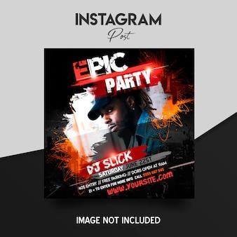Muziekfestival instagram postsjabloon