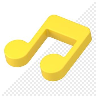Muzieknoot 3d-pictogram