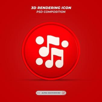 Muziekpictogram in 3d-rendering