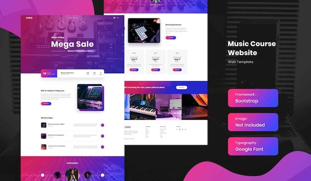 Muziekproductie online cursus bestemmingspagina websitesjabloon