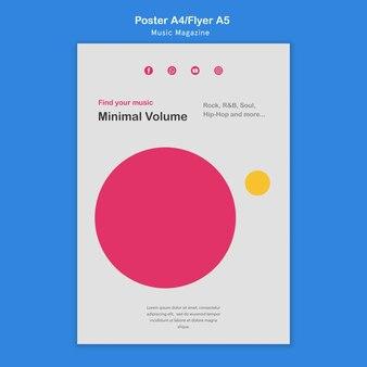 Muziektijdschrift poster
