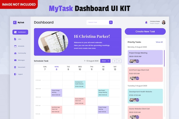 Mytask list dashboard ui kit