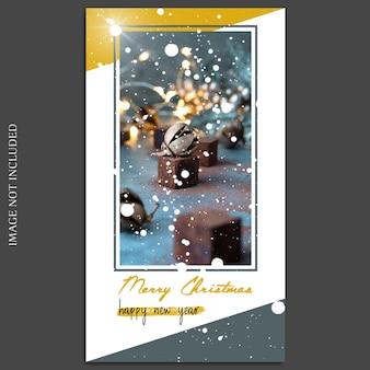 Natale e felice anno nuovo 2019 foto mockup e instagram story template