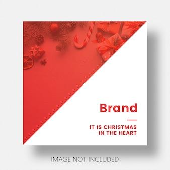 Natale instagram media post modello instagram