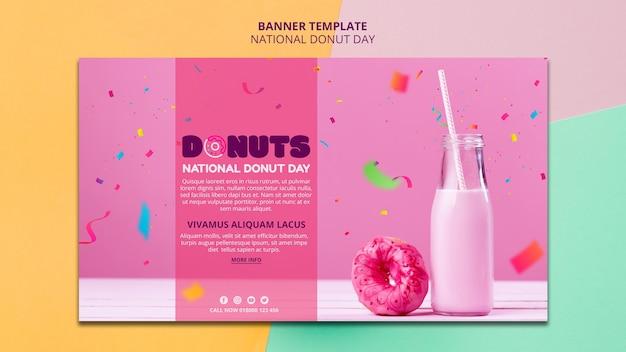 Nationale donut dag banner stijl