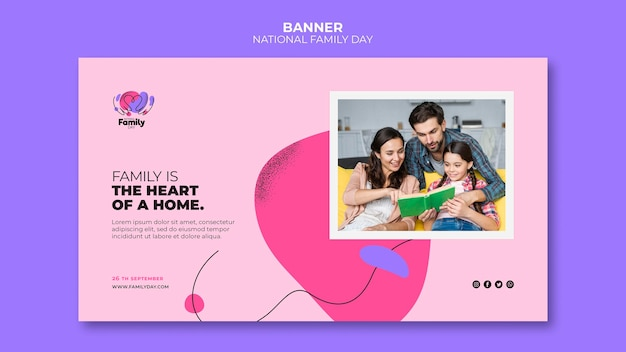 Nationale familiedag banner concept