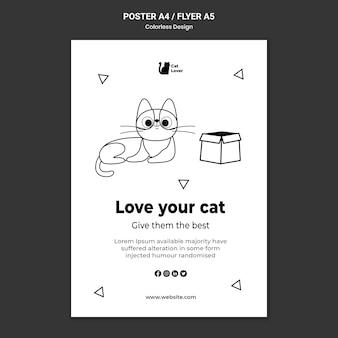 Nationale kattendag poster