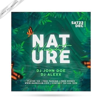 Natuur flyer feest