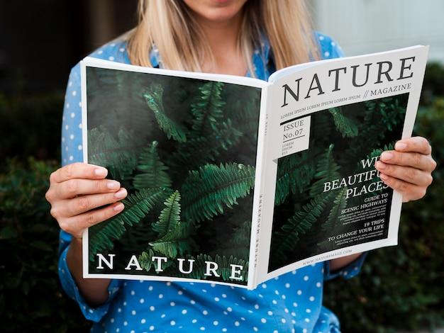 Natuur tijdschrift concept weergave