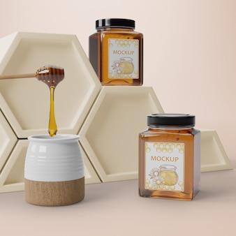 Natuurlijk honingproduct in potten