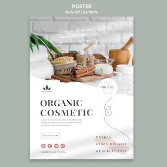Natuurlijke cosmetica banner thema