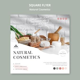Natuurlijke cosmetica flyer thema