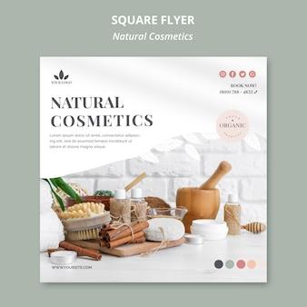 Natuurlijke cosmetica flyer